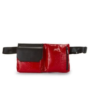 Kendall & Kylie Red Snake Fanny Pack